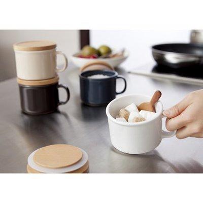 Ideaco 廚房好幫手 canister mug S 木蓋 馬克杯(紅色)