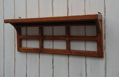 zakka糖果臘腸鄉村雜貨坊      木作類..Evella 窗格壁架(兩用架壁掛架桌上架道具架調味架掛飾架攝影背景)
