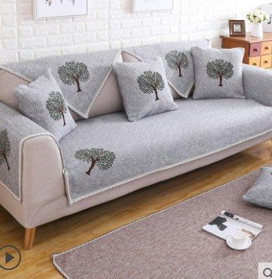 ☜男神閣☞沙發坐墊套四季通用布藝全包萬能套歐式沙發巾罩墊子全蓋簡約現代