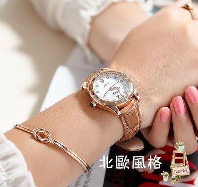 麥麥部落 女士手錶學生正韓簡約式式可愛風風初中小清新風風百搭森系少女心防水MB9D8