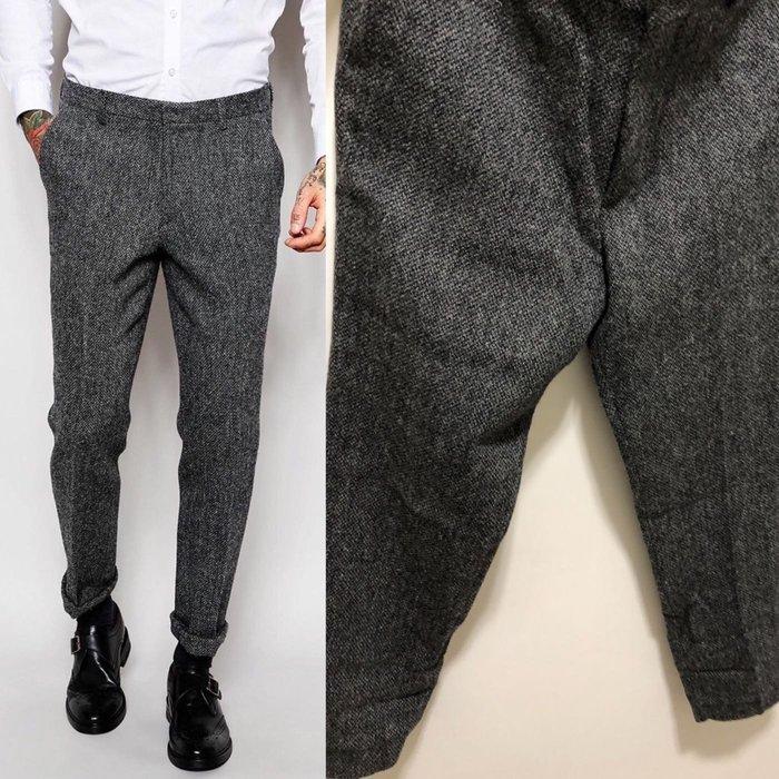 ~The Black Dan Moccani~ [二手拍] ASOS x Harris Tweed 高級毛呢/羊毛西裝褲