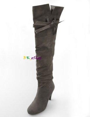 【美衣大鋪】charlotterusse 正品☆Slouchy Suede Tie Boots 超美實穿過膝靴