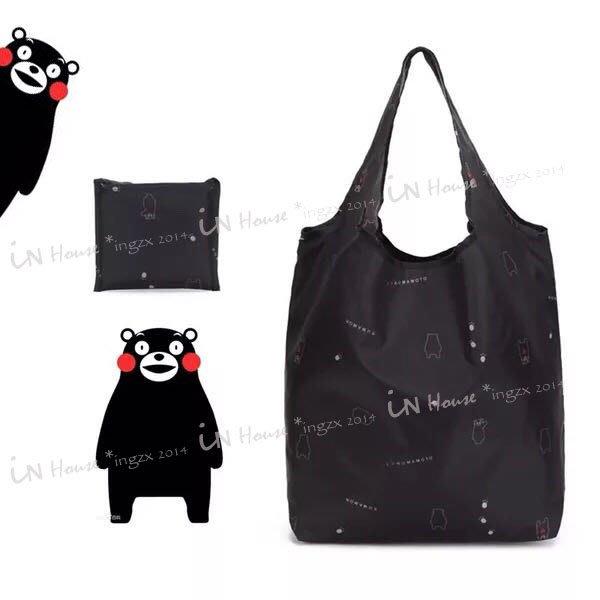 IN House* 日本 訂單 kumamon 可愛 熊本熊 折疊 收納 購物袋 環保 手提袋 收納袋