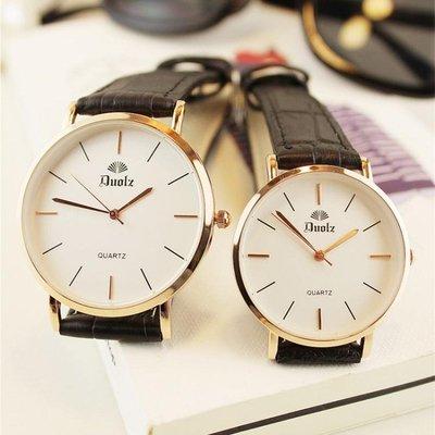 韓版大氣潮手錶男女士學生防水情侶女錶超薄男錶石英錶 交換禮物 生日禮物