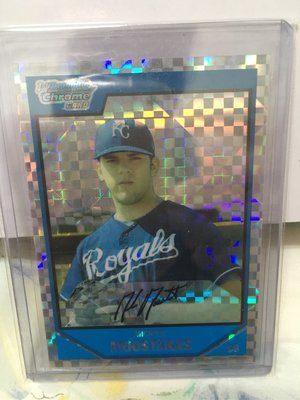 MIKE MOUSTAKAS 2007 Bowman Chrome Draft XFRACTOR