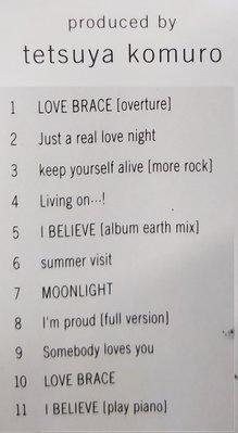 二手專輯[華原朋美tomomi kahala  LOVE BRACE愛的擁抱]寫真歌詞本+中文歌詞本+CD.等1996年