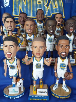金州勇士 klay thompson stephen curry  durant green 公仔