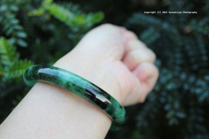 PNJ Natural Jadeite A Jade No.275491 天然翡翠 內徑58mm, 寬約9mm