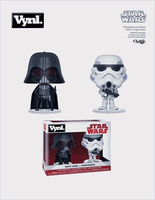 ArtLife @ FUNKO Vynl Star Wars DarthVader 星際大戰 黑武士 白兵