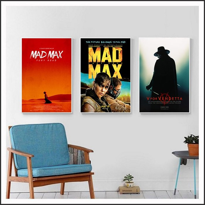 瘋狂麥斯 憤怒道 Mad Max Fury Road V怪客 電影海報 藝術微噴 掛畫 嵌框畫 @Movie PoP #