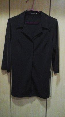 2手黑色7分袖長版西裝式外套 台南市