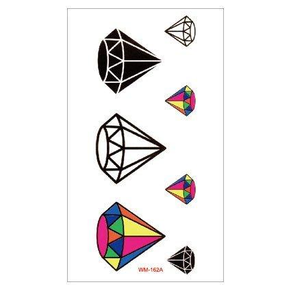 【萌古屋】M系列彩色鑽石 - 男女防水紋身貼紙原宿刺青貼紙WM-162A