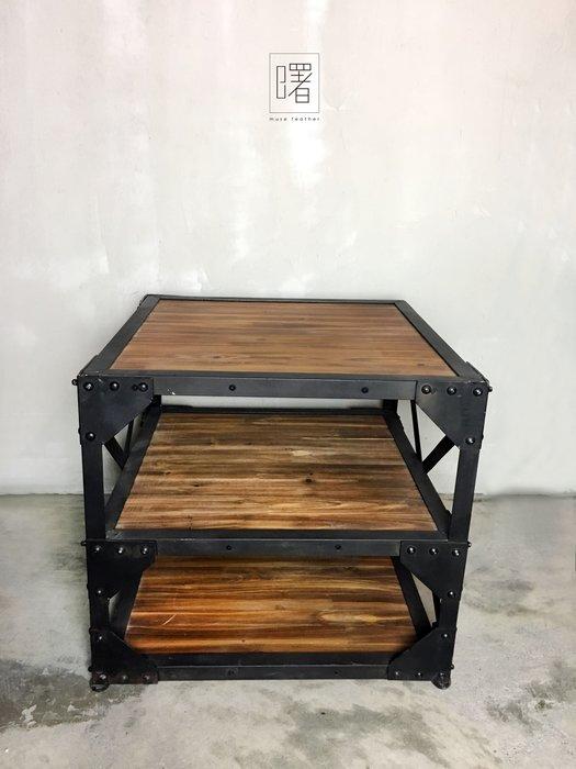 【曙muse】美式復古工業收納櫃 ( 展示櫃 ) 展示櫃邊桌 木頭搭鐵經典工業款 loft 工業風 咖啡廳 民宿 餐廳