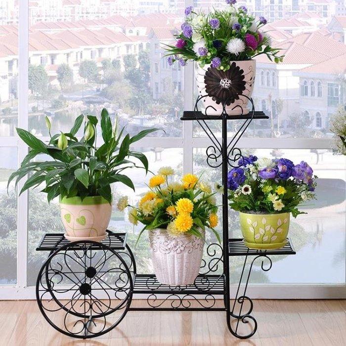 鐵藝花架綠蘿多層客廳組裝花架陽台歐式花架子室內鐵藝花架落地式  YDL