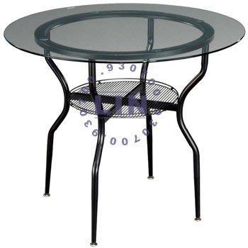 【品特優家具倉儲】A826-15餐桌造型網桌烤黑腳