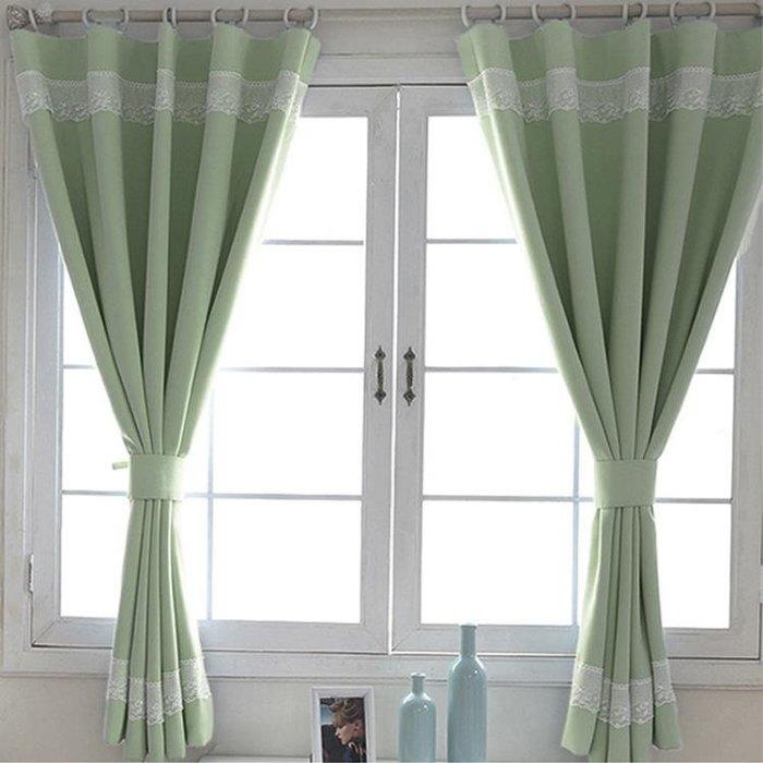 簡約現代短窗簾成品遮光隔音小窗簾布料飄窗臥室陽台遮陽布料全館免運