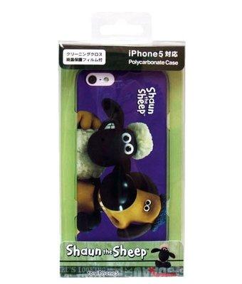 尼德斯Nydus~* 日本正版  笑笑羊 紫色 Shaun the sheep 手機殼 iPhone5/5S