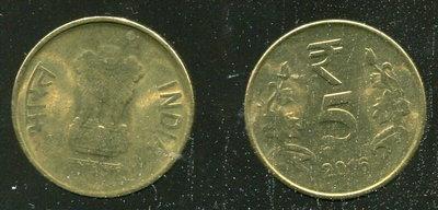 【錢幣】INDIA (印度), 5 Rupee , K399 , 2016 品相全新UNC