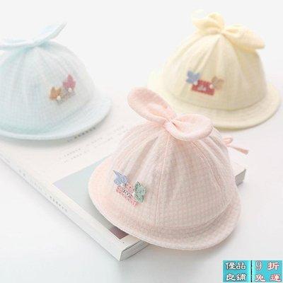 【全場9折】夏季嬰兒帽子0-3-6-1...