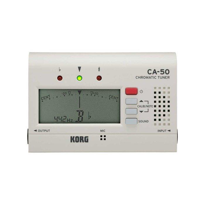 新款 Korg CA-50 全音域 調音器 白色 Tuner - 【黃石樂器】