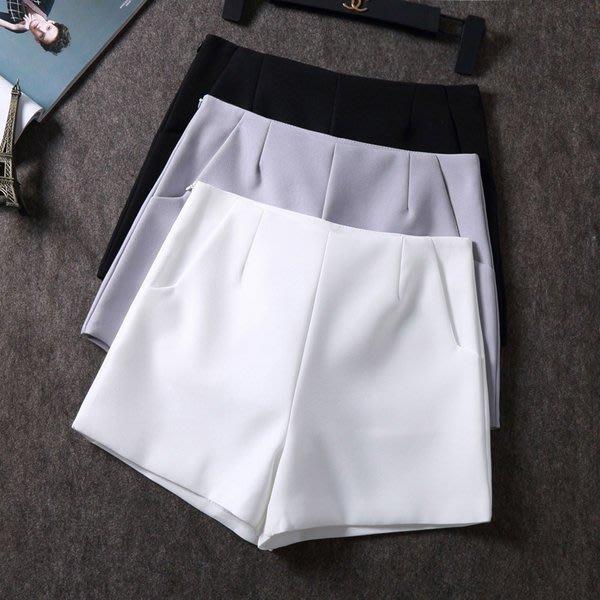 [C.M.平價精品館]XL現貨/ 灰/白/黑色寬褲口大腿顯長顯瘦雙口袋粉色系百搭短褲