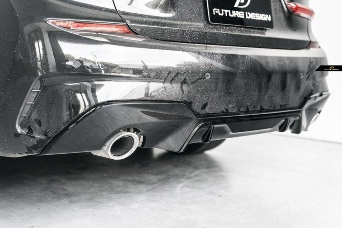 【政銓企業有限公司】BMW G20 G21 MTECH P款 高品質 亮黑 兩件式 後下巴 免費安裝 現貨