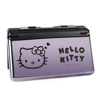 任天堂Nintendo DSLite NDSL Hello Kitty 電鍍保護殼(鐵灰)【台中恐龍電玩】
