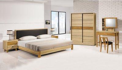 【南洋風休閒傢俱】精選時尚造型床 置物櫃 收納櫃 設計櫃-  瑪莎栓木色6尺床片CY22-26