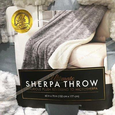 【MAXX美國代購】美國直郵 Ultimate Sherpa Throw 柔軟雙面羊羔絨毛毯蓋毯 空調被