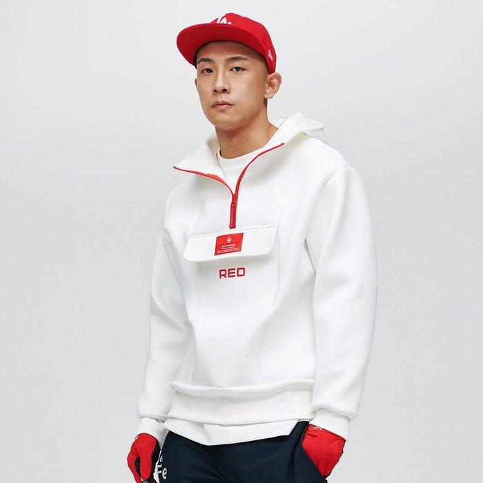 【OTOKO Men's Boutique】固制:RED太空棉套頭運動衛衣/白色 (台灣獨家代理) 原廠正品