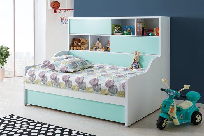 [歐瑞家具]JB-351 天天晴朗3.5尺床組(全)/不含床墊/系統家具/沙發/床墊/茶几/高低櫃/1元起