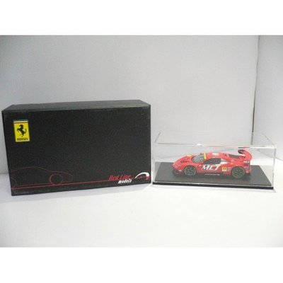 RED LINE EBBOR 1/43 JIM GAINER FERRARI DUNLOP #11 SUPER GT300 2005 RED 43744 PAK