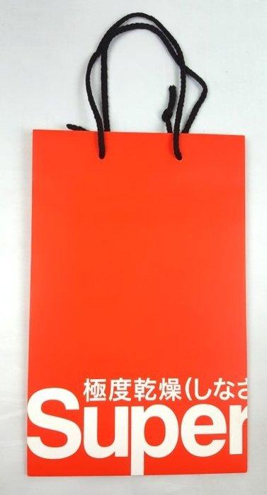 特價40元~☆ 瘋加州 ☆ Superdry 極度乾燥 抽繩手把 原裝美國寄回(小)紙袋 z