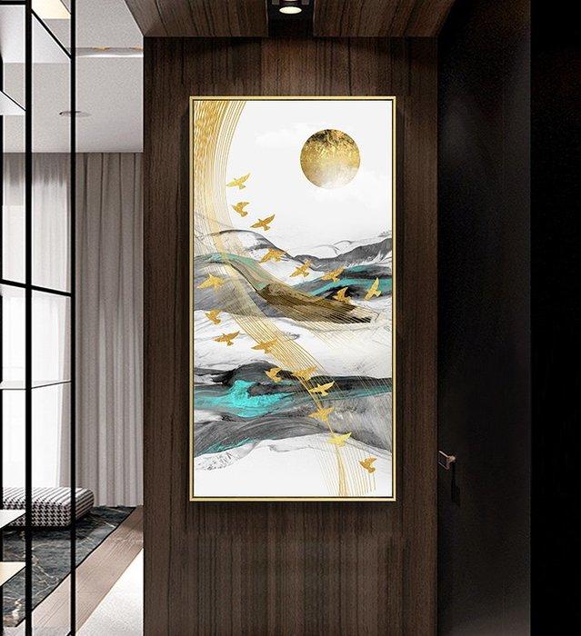 抽象現代簡約禪意形意意境玄關裝飾畫芯高清微噴打印壁畫畫心(不含框)