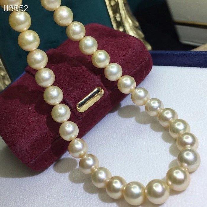 (輕舞飛揚)純正海水珍珠項鍊,阿科亞金珠項鍊,絕對的海水珍珠,直徑8-9mm左右,極強光微微暇,如此美