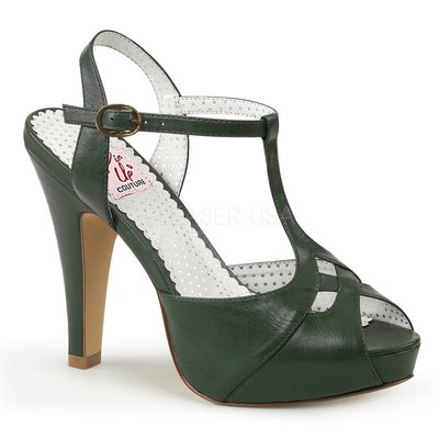 Shoes InStyle《四吋》美國品牌 PIN UP CONTURE 原廠正品厚底高跟涼鞋 有大尺碼『綠色』