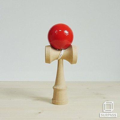 『Surpass』木質劍玉劍球 Classical 經典系列 紅色