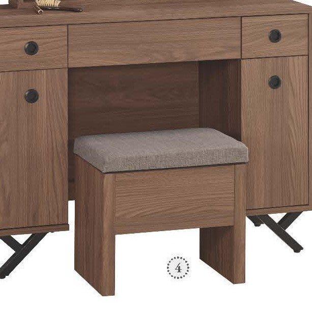 【DH】商品貨號509-4商品名稱《克約》42CM化妝椅(圖一)備有雪松白色。簡約雅緻經典。主要地區免運費
