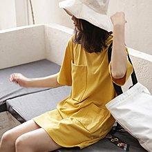 長版上衣 短袖t恤女裝正韓潮寬鬆學生百搭中長款半袖上衣