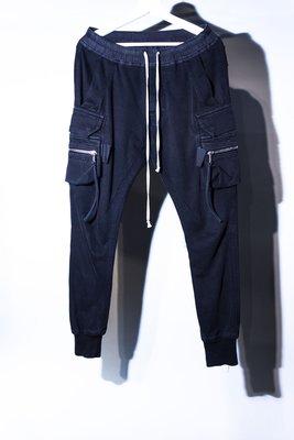 Rick Owens Shrinking drawstring pants(Black)RO 瑞克 歐文斯 抽繩 口袋褲