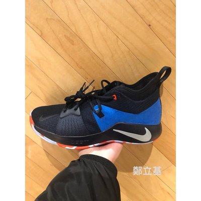 免運 (環球代購)Nike Paul George PG 2 Home Craze AJ2040-400 黑藍