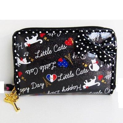 維琪哲哲 ~ 日本購回~日本POP PARLOR黑色小貓超Q卡片夾/零錢包