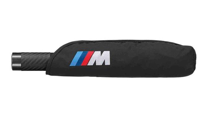 【樂駒】BMW 原廠 生活 精品 M Collection 折疊 雨傘 短柄傘 霧面 碳纖維 carbon 把手 自動