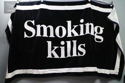 [FDOF] Smoking kills 黑色浴巾 日本公司貨