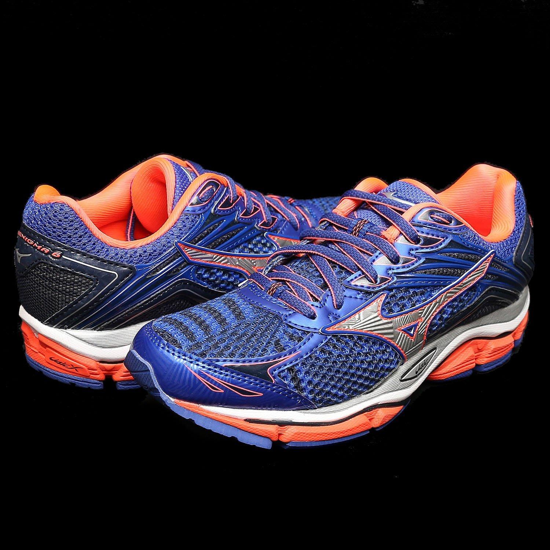 鞋大王Mizuno J1GD-161103 寶藍 ENIGMA 6 大波浪片慢跑鞋【免運費,加贈襪子】541M