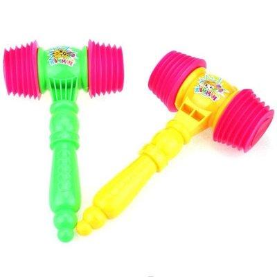 寶寶玩具BB錘玩具塑料敲打響錘兒童幼兒玩具帶口哨教學助威響錘子