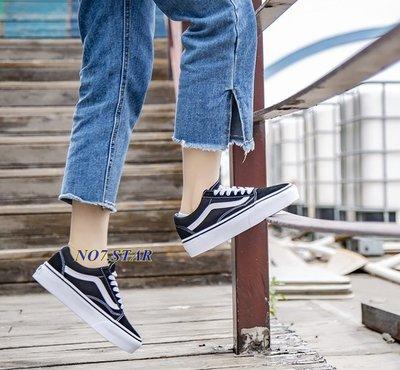 VANS OLD SKOOL 黑白 厚底 增高 麂皮   低筒 滑板鞋 女鞋 VN0A3B