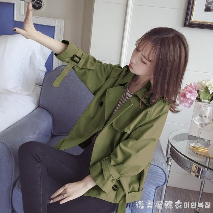 短款外套女春秋季韓版百搭學生bf原宿寬鬆夾克女士小風衣