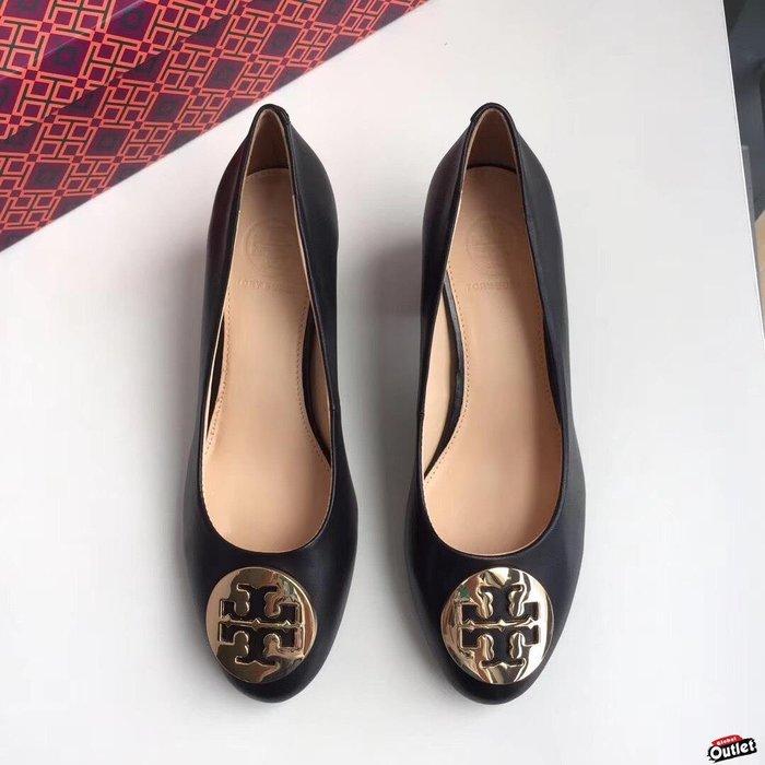 【全球購.COM】TORY BURCH TB 2019新款 黑色高跟鞋 休閒鞋 鞋根5cm美國Outlet代購