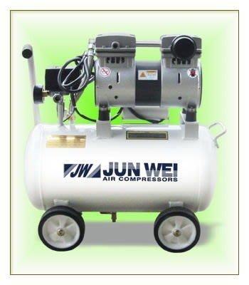 ☆SIVO電子商城☆JUN WEI JW-2025N 無油超靜音空壓機 2HP*24L 適用於大樓.實驗室.住宅區
